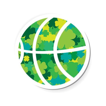 Clover Filled Basketball Element