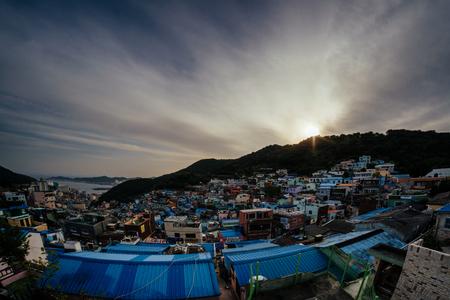 甘川文化村 写真素材