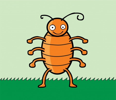 A happy cockroach smiling Stock Vector - 14633627