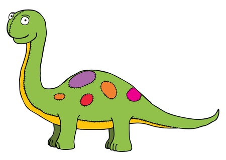 stuff toys: Represent a green dinosaur in puppet style   Well layered eps 8
