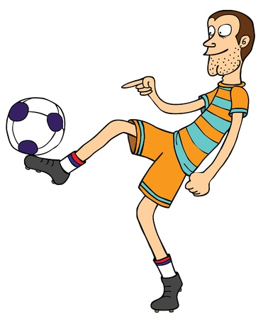 A football player playing with his ball   Well layered eps 8 Vector