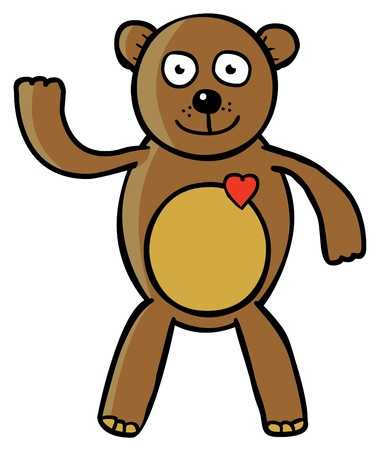 Represent a good teddy bear   Well layered vector illustration in eps 8 file Vector