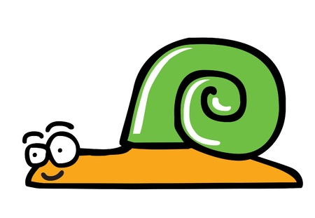 Illustration of a smiling snail which has a green shell  editable vector file  ai8 Stock Vector - 14807490