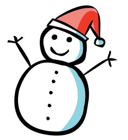 Happy Snowman Stock Vector - 15668963
