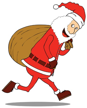 Santa Claus   big Sack Stock Vector - 15669033