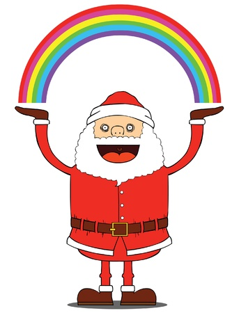 Santa Claus have rainbow Stock Vector - 15669031