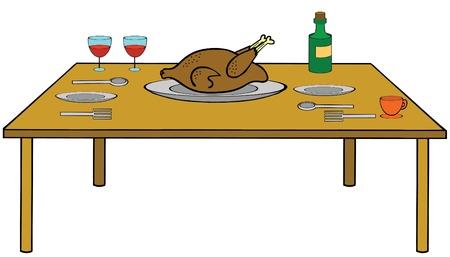Table-Food is ready Çizim