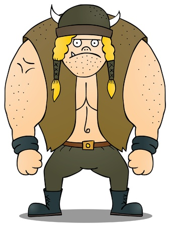 Fat Viking Illustration