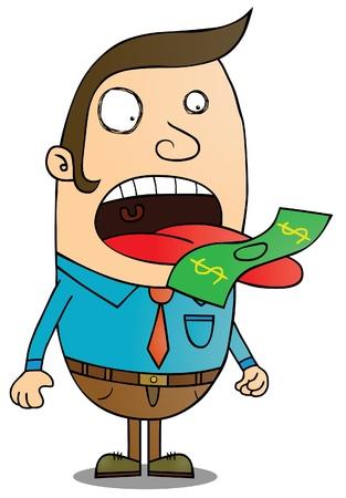 Money eater Stock Vector - 15669007