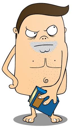 Nakedman with book Stock Vector - 15668995