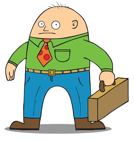 shaved head: Bald Businessman