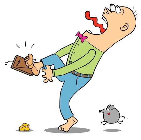 descuidado: Cuidado com a ratoeira
