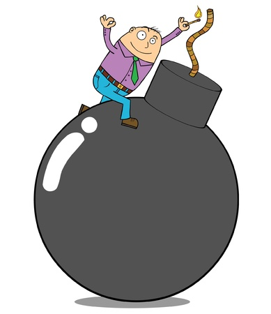 Bomb - No worry, be happy Stock Vector - 15669070
