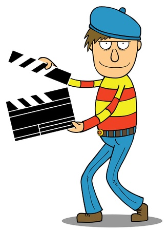 movie director: Cartoon Director Illustration