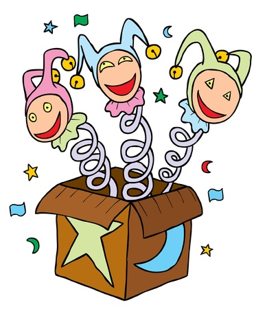 Clowns in Box Stock Vector - 15669073