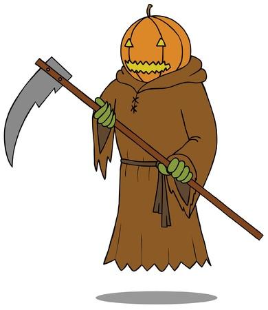 Death Angel Pumpkin Stock Vector - 15669092