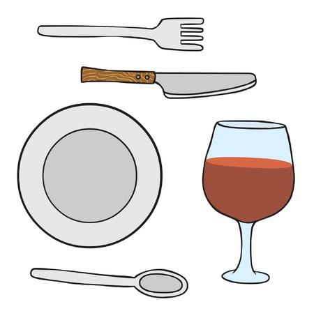 fork glasses: Dishwares