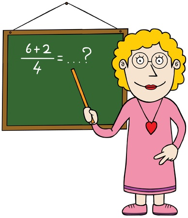 Female mathematic teacher Vector
