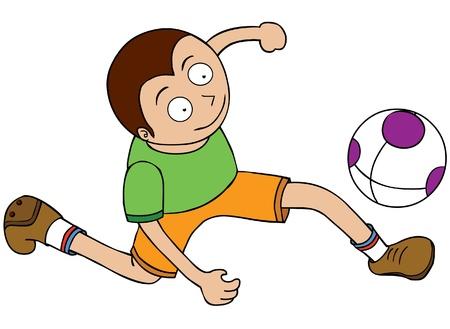 kicking ball: Football Player - Run after ball