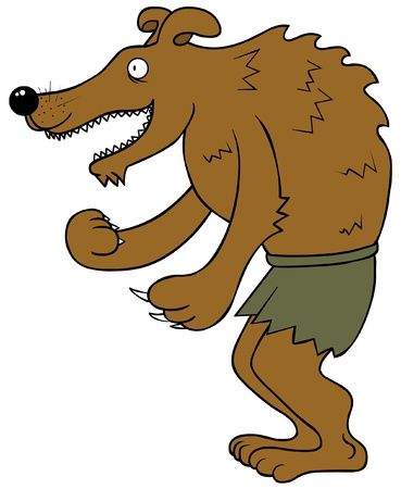 Happy Werewolf Vector