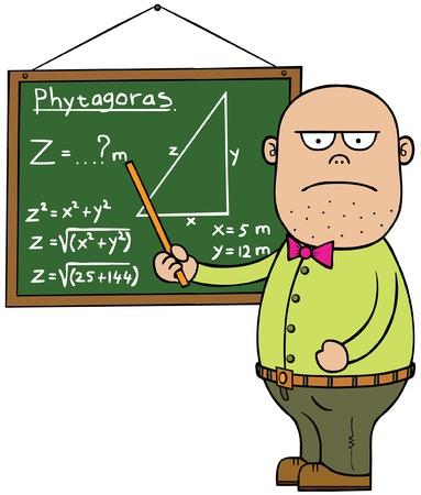 kel: Erkek matematik öğretmeni Çizim