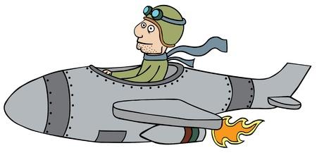 illustration of retro pilot Stock Vector - 15669068