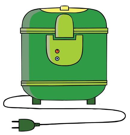 rice cooker: Ilustraci�n de una olla de arroz Vectores