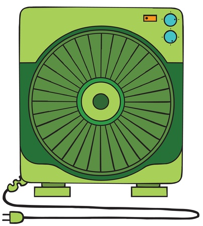 illustration of a square fan Vector