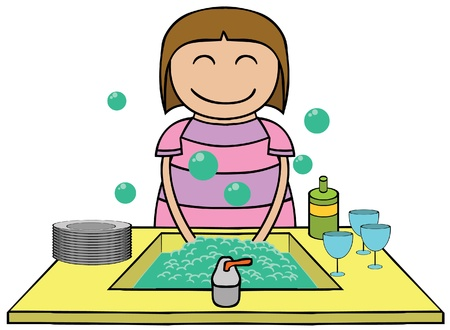 woman eat: illustration of  Illustration