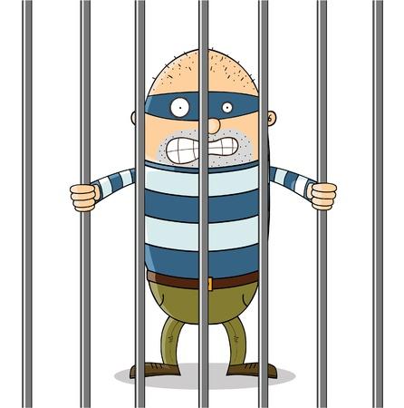 carcel: chico malo en la cárcel Vectores