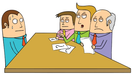 worried executive: interview Illustration