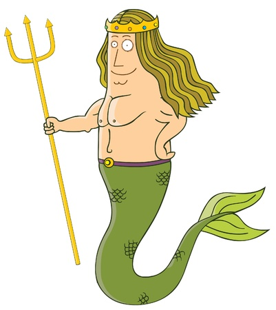 king of mermaid Vector