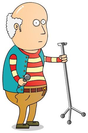 cartoon singing: old singer