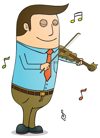 Playing violin Stock Vector - 16105666