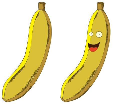 smiling banana Vector