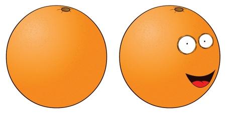 smiling orange Stock Vector - 16105714