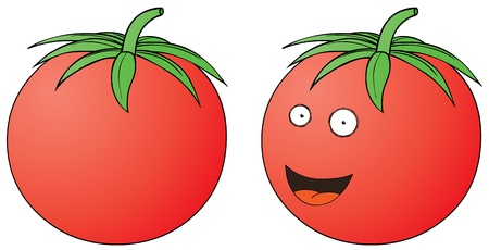smiling tomato Stock Vector - 16105599