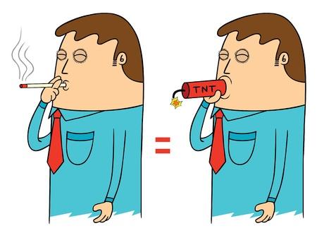 bad habit: dangerous smoking