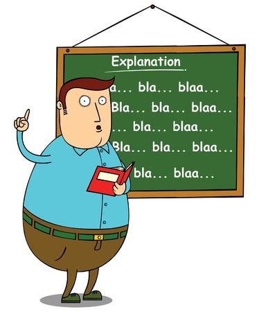 soumis: enseignant expliquant l'objet de graisse
