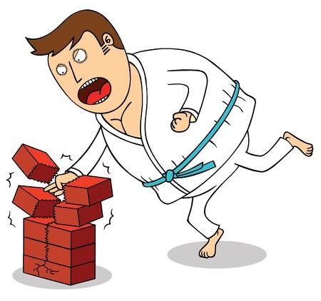 hit man: Karate - Breaking bricks Illustration