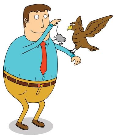 feeding eagle Stock Vector - 16947886