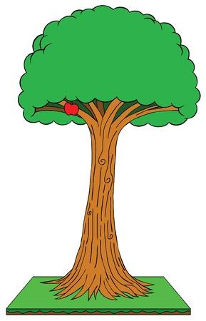 shady: apple tree Illustration