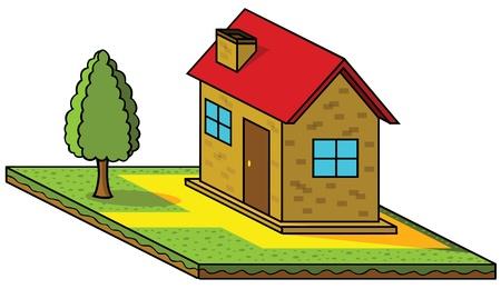 isometric house Stock Vector - 17048868