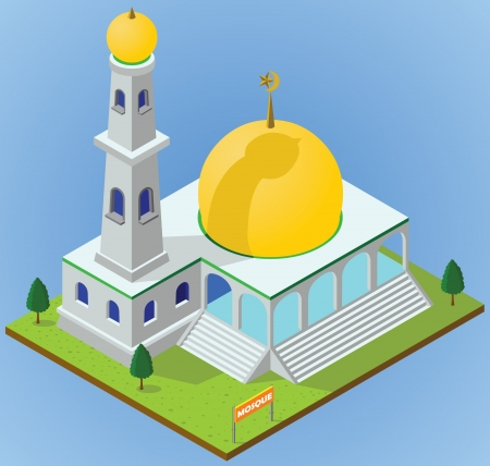 isometric mosque Stock Vector - 17048878