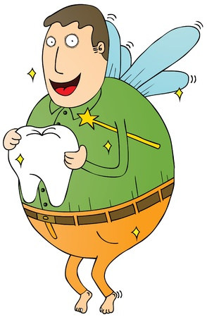 tooth fairy: fat tooth fairy Illustration