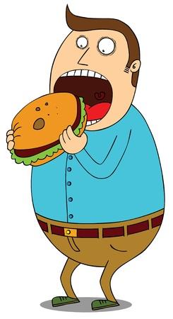 comida chatarra: s�per hamburguesa