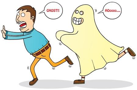 cowardice: afraid of ghost