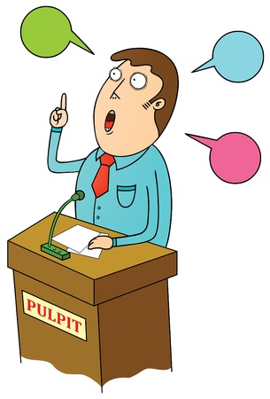 orating: public speaking Illustration