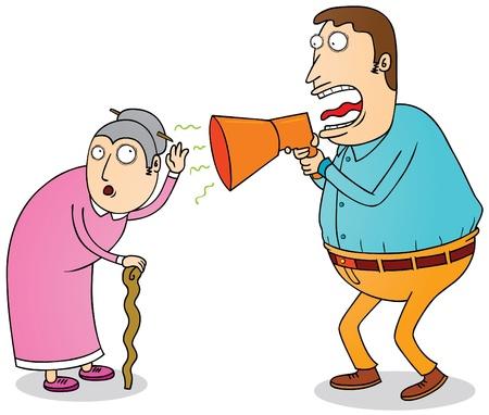 people listening: deaf grandma