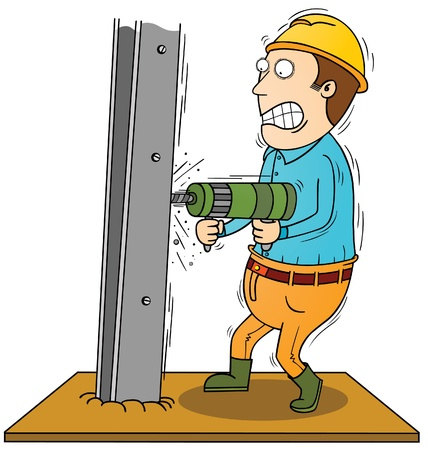 rejas de hierro: perforaci�n barra de hierro Vectores